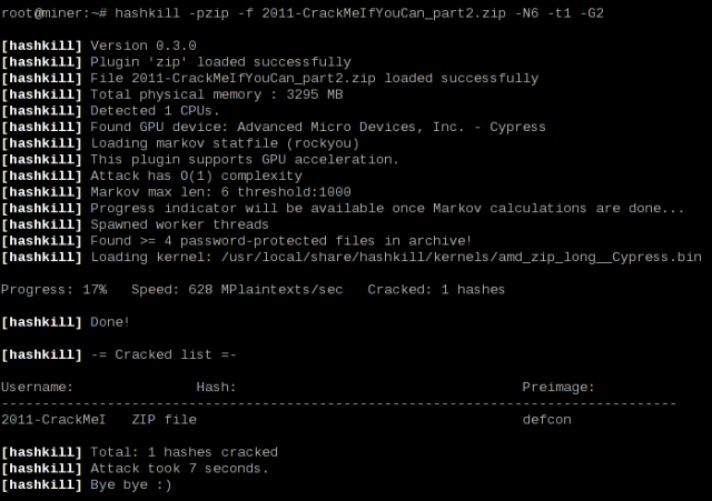 Password Cracker Tool Hashkill version 0.3.1 released