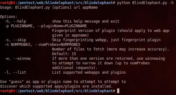 BlindElephant %E2%80%93 Web Application Fingerprinting