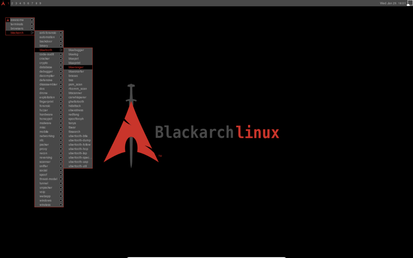BlackArch Linux v2014 10 07 – Lightweight expansion to Arch